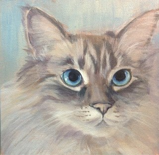 """Lindsey's Cats - Maggie"" original fine art by Lyn Gill"