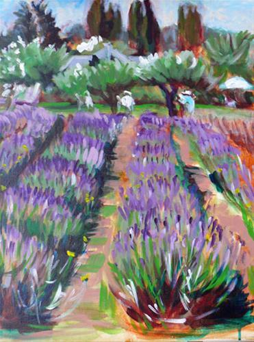 """Lavender Farm"" original fine art by Darlene Young"