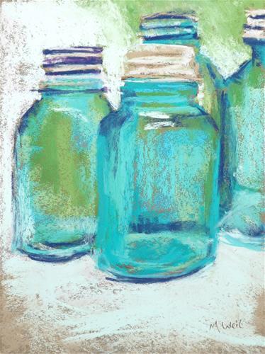 """""""Fun Jars 1"""" original fine art by Mary Weil"""