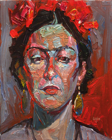 """Ma Lo as Frida, Again"" original fine art by Raymond Logan"