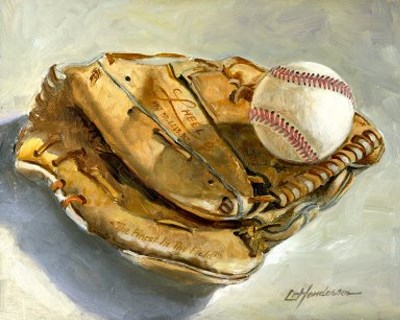"""Ball and Glove"" original fine art by Lael Henderson"
