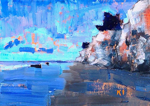 """Ledbetter Beach Dawn"" original fine art by Kevin Inman"