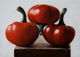 """Red Hot Cherry Peppers"" original fine art by Jonathan Aller"