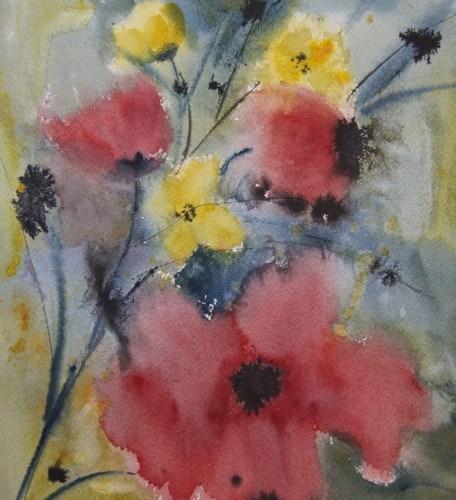 """Wild Flowers"" original fine art by Jean Lurssen"
