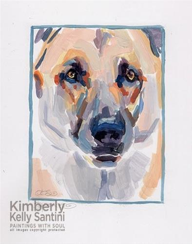 """Spencer, Sketched"" original fine art by Kimberly Santini"