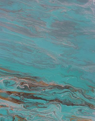 """Contemporary Abstract Seascape Painting,Coastal Art Speak Softly to Me by International Contempora"" original fine art by Kimberly Conrad"