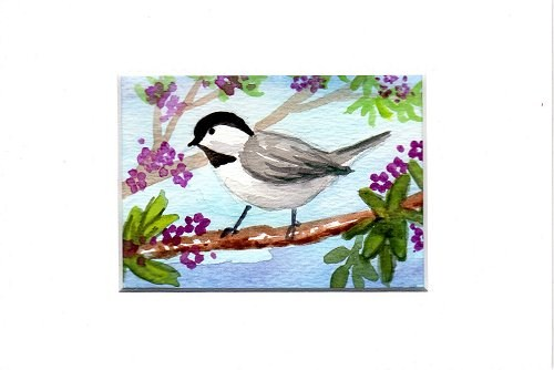 """Little Chickadee 1"" original fine art by Patricia Ann Rizzo"