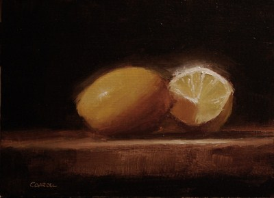 """Lemon and a Half - study"" original fine art by Neil Carroll"