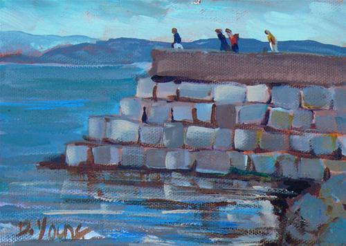 """Ogden Point"" original fine art by Darlene Young"