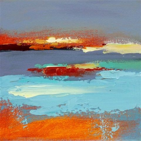 """Landscape 124"" original fine art by Ewa Kunicka"