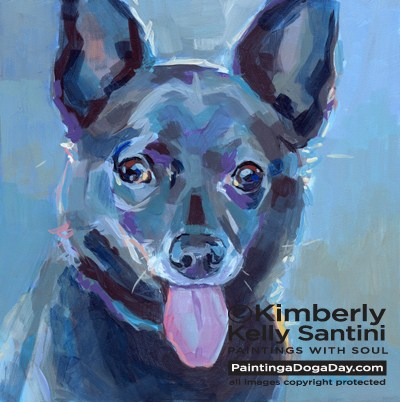 """Barry and 2013 Planner"" original fine art by Kimberly Santini"
