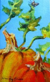 """Happy Halloween ; D"" original fine art by JoAnne Perez Robinson"