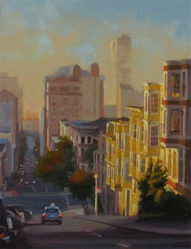 """Nob Hill Morning"" original fine art by John White"