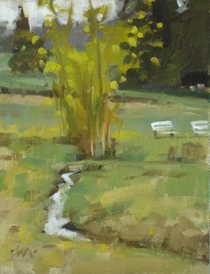 """Park Stream"" original fine art by Carol Marine"