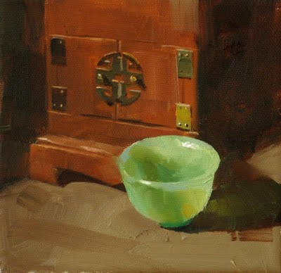 """Jade Cup"" original fine art by Qiang Huang"