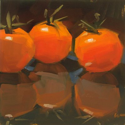 """Unreal Tomatoes & Back to Back --- SOLD"" original fine art by Carol Marine"
