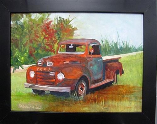 """Old Ford Truck #2"" original fine art by Barbara Haviland"