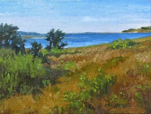 """""""'Sea Breezes II' An Original Oil Painting by Claire Beadon Carnell 30 Paintings in 30 Days Challenge"""" original fine art by Claire Beadon Carnell"""