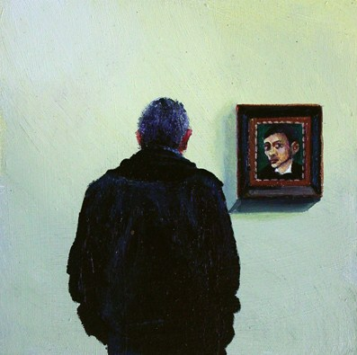 """Jan Mankes And Man- Man Enjoying A Self Portrait By Jan Mankes In Museum"" original fine art by Gerard Boersma"