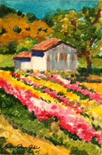 """Flower Shed"" original fine art by JoAnne Perez Robinson"