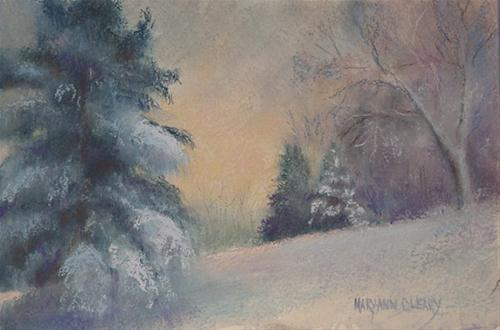"""Winter Stillness"" original fine art by Maryann Cleary"