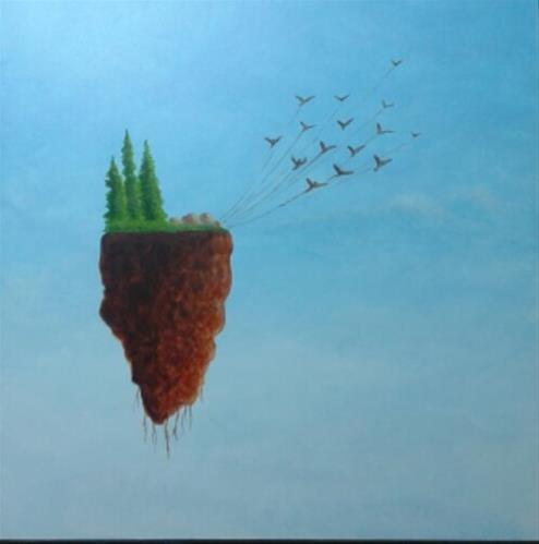 """""""Bird Island"""" original fine art by Staar Caswell"""