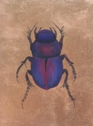 """Scarabidae Africana"" original fine art by Pera Schillings"