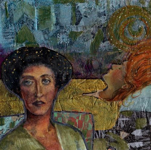 """Mixed Media: Dream Guardian"" original fine art by Belinda Del Pesco"