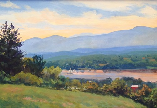 """Summer Afternoon at Olana"" original fine art by Jamie Williams Grossman"