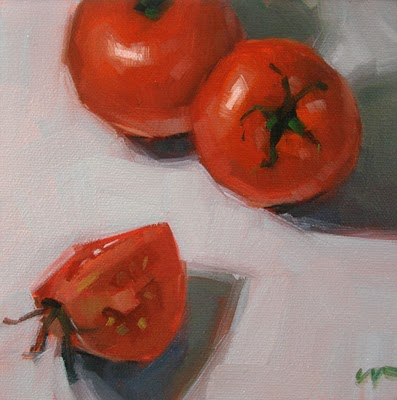"""For My Salad --- SOLD"" original fine art by Carol Marine"