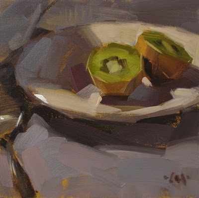 """Kiwi Breakfast"" original fine art by Carol Marine"