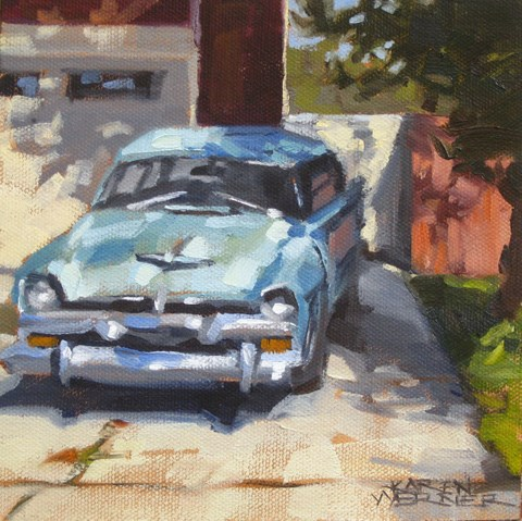 """Car Around The Corner"" original fine art by Karen Werner"