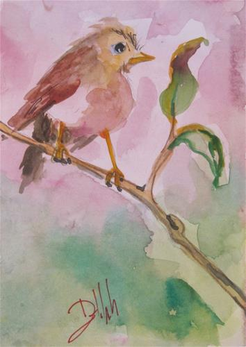 """Robin"" original fine art by Delilah Smith"