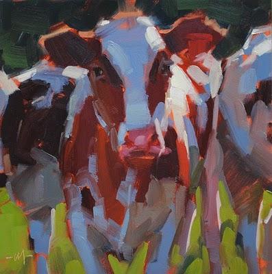 """Cowabunga"" original fine art by Carol Marine"