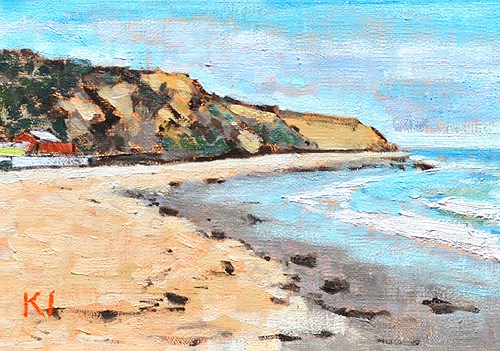 """Crystal Cove Beach Painting"" original fine art by Kevin Inman"