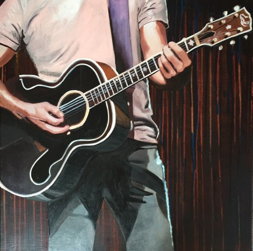"""Morten at La Cigale"" original fine art by Andre Beaulieu"