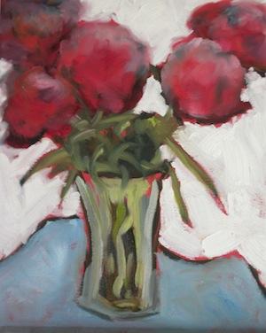 """Peonies Are My Favorite"" original fine art by Janet Bludau"
