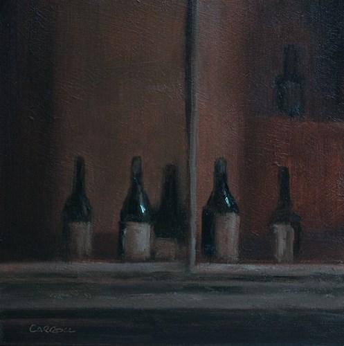 """Wine Merchant's Window No.1"" original fine art by Neil Carroll"