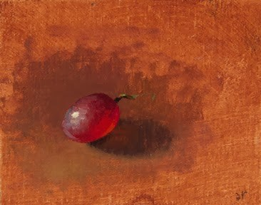 """Red Grape in the Sun at the Peto Museum  (+ Peto Museum workshop feedback)"" original fine art by Abbey Ryan"