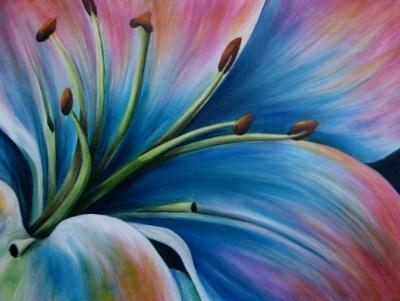 """""""Lily's Enchantment"""" original fine art by Joanne Abbott"""