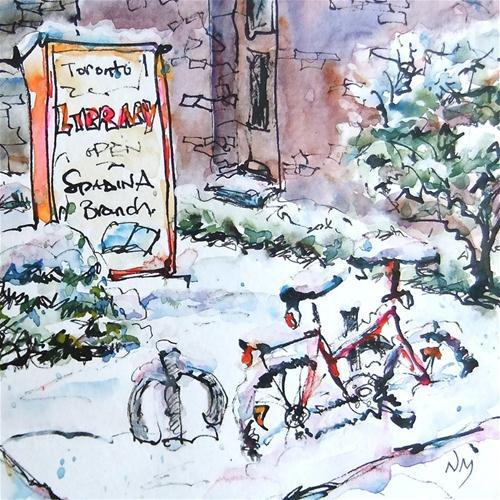 """""""snowed in"""" original fine art by Nora MacPhail"""