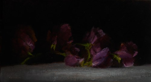 """Sweet Peas"" original fine art by Neil Carroll"