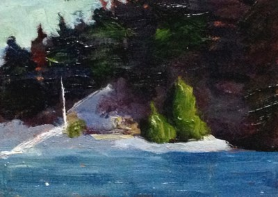 """Waiting for the Ferry View"" original fine art by Susan Hammer"