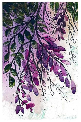 """Wisteria-ish"" original fine art by Tonya Doughty"