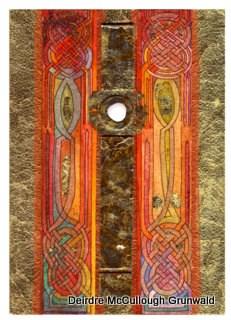 """Totem Pole"" original fine art by Deirdre McCullough Grunwald"