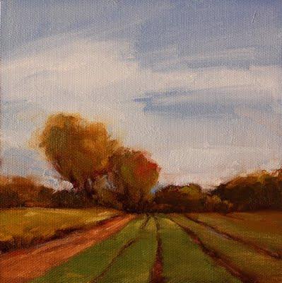 """""""Farm Day"""" original fine art by Laurel Daniel"""