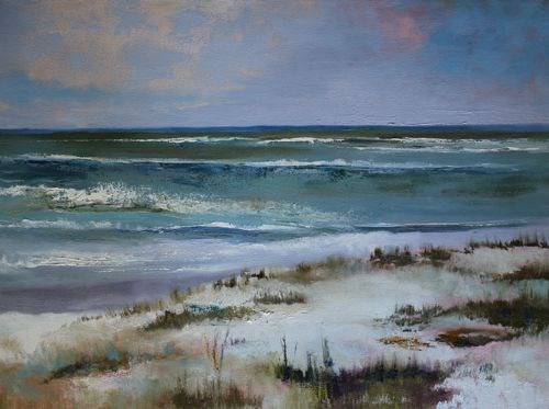 """Beach, Contemporary Seascape Paintings by Amy Whitehouse"" original fine art by Amy Whitehouse"