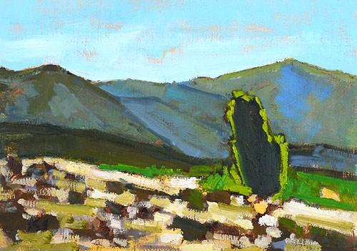 """""""Near Temecula"""" original fine art by Kevin Inman"""