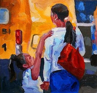 """""""the two"""" original fine art by Jurij Frey"""