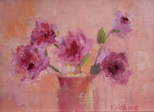 """Flowers in My Dreams, Contemporary Floral Paintings by Arizona Artist Amy Whitehouse"" original fine art by Amy Whitehouse"